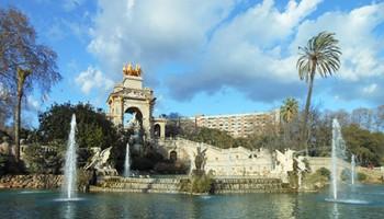 Fountains at Parc de la Ciutadella in Barcelona