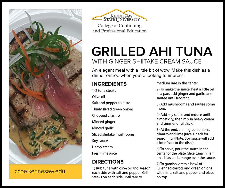 Ahi Tuna Recipe Card