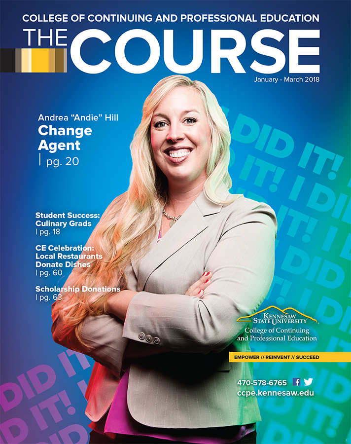 Andie Hill, feature graduate on The Course catalog