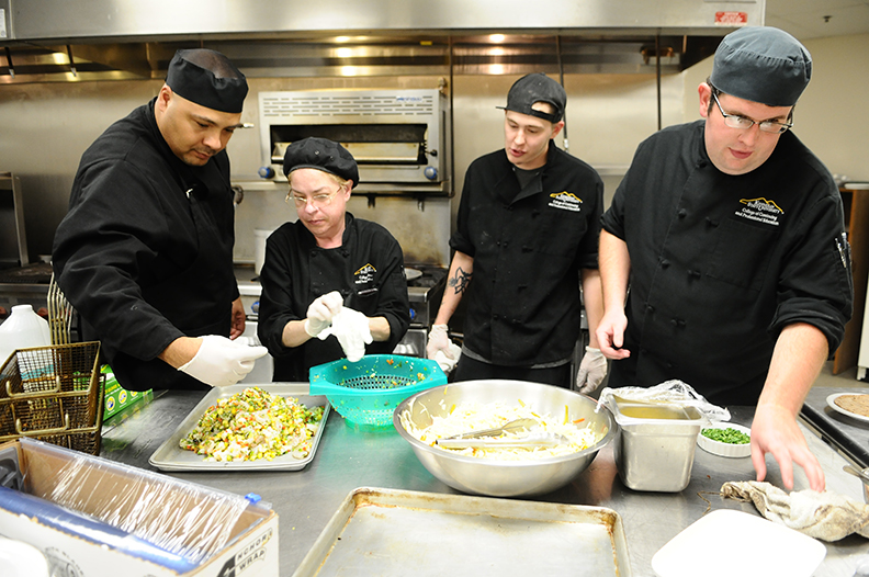 Culinary Students in Kitchen