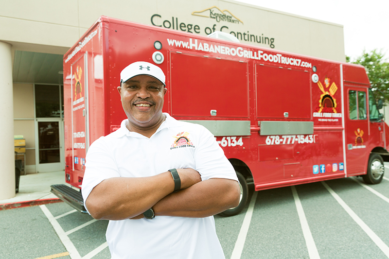 David Johnson with his food truck