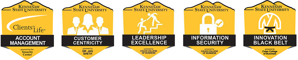 Digital Badges the the Coles College of Business at KSU