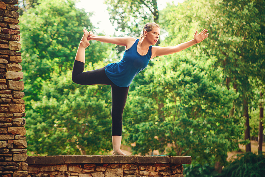 Yoga pose by Emily Berreth