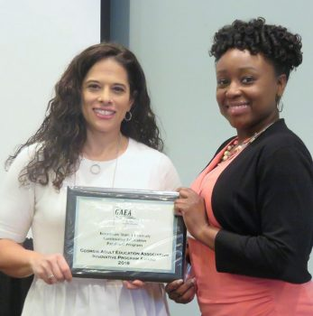 Davia Rose Lassiter received the award on behalf of the College during the annual GAEA awards luncheon.