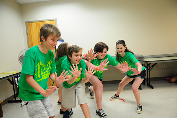 Teens learn how to act without a script in Improv For Teens at Summer U.
