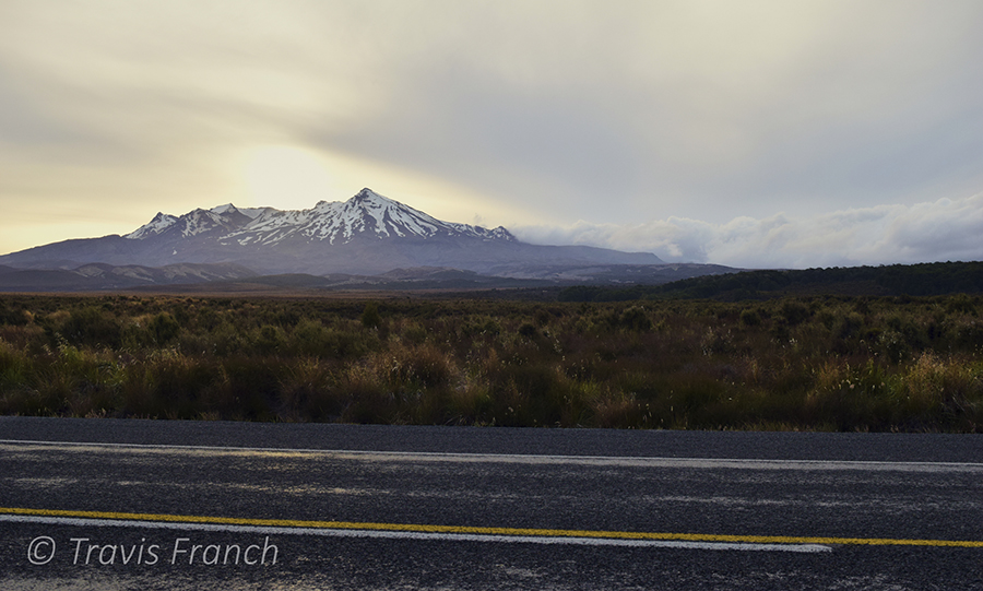 Travis captured this photo of Mt. Ruapehu during his trip to New Zealand where we was able to put some of his newly acquired photo skills into practice.