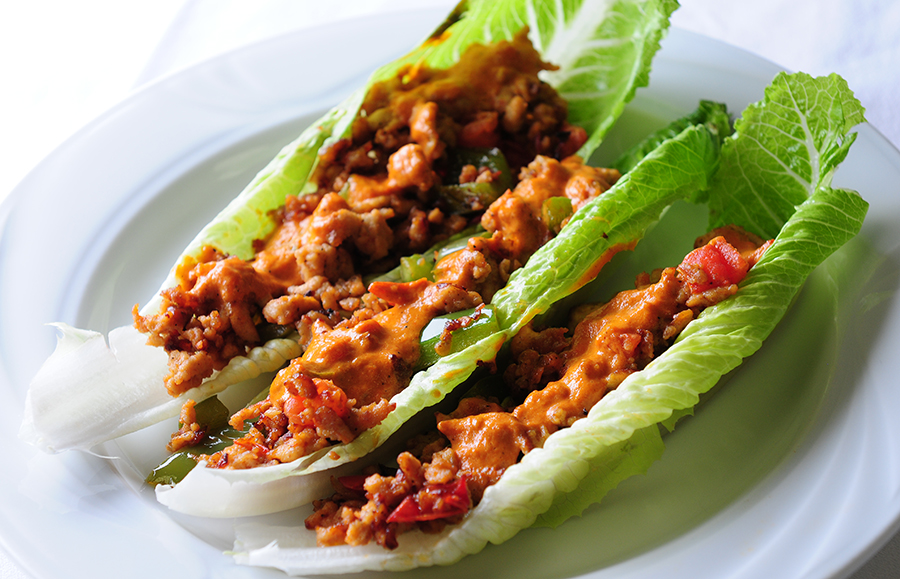 Mystery Basket Chicken Lettuce Wraps