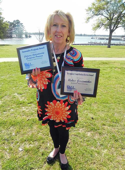 Pam Moss with CCPE Awards from GAEA