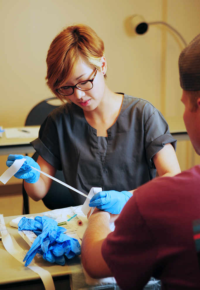 Phlebotomy Technician students in class