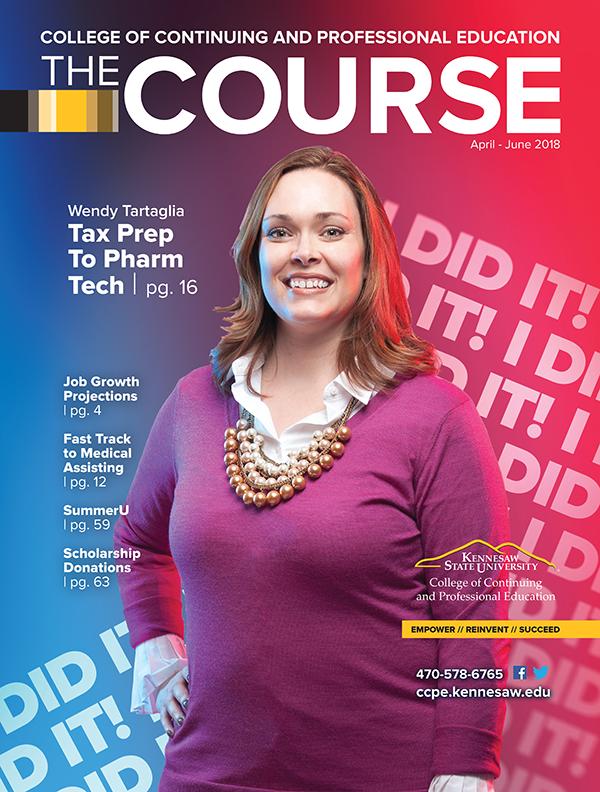 KSU Continuing Education Course Catalog Cover of Wendy Tartaglia Pharmacy Technician Graduate
