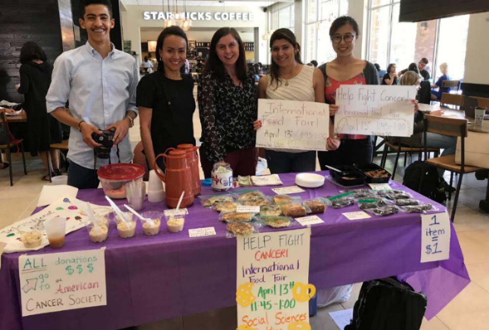 IEP Students Particpating in Campus Event for Relay for Life